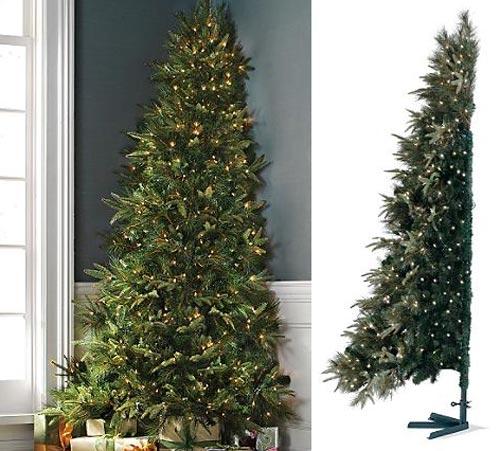 Cuarto y mitad abetos de navidad para espacios peque os for Arboles para espacios pequenos