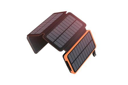 Bateria Externa Con Paneles Solares