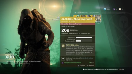 Destiny 2 Alas del Alba Sagrada