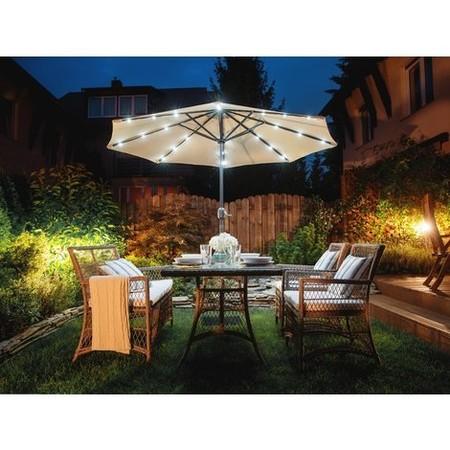 Sombrilla De Jardin Con Led Color Beige 266 Cm Rapallo P 743659 4763695 1rapallo