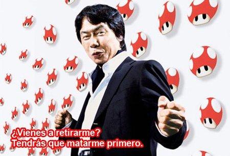 Miyamoto no dejará de hacer juegos nunca. Tendrán que retirarlo