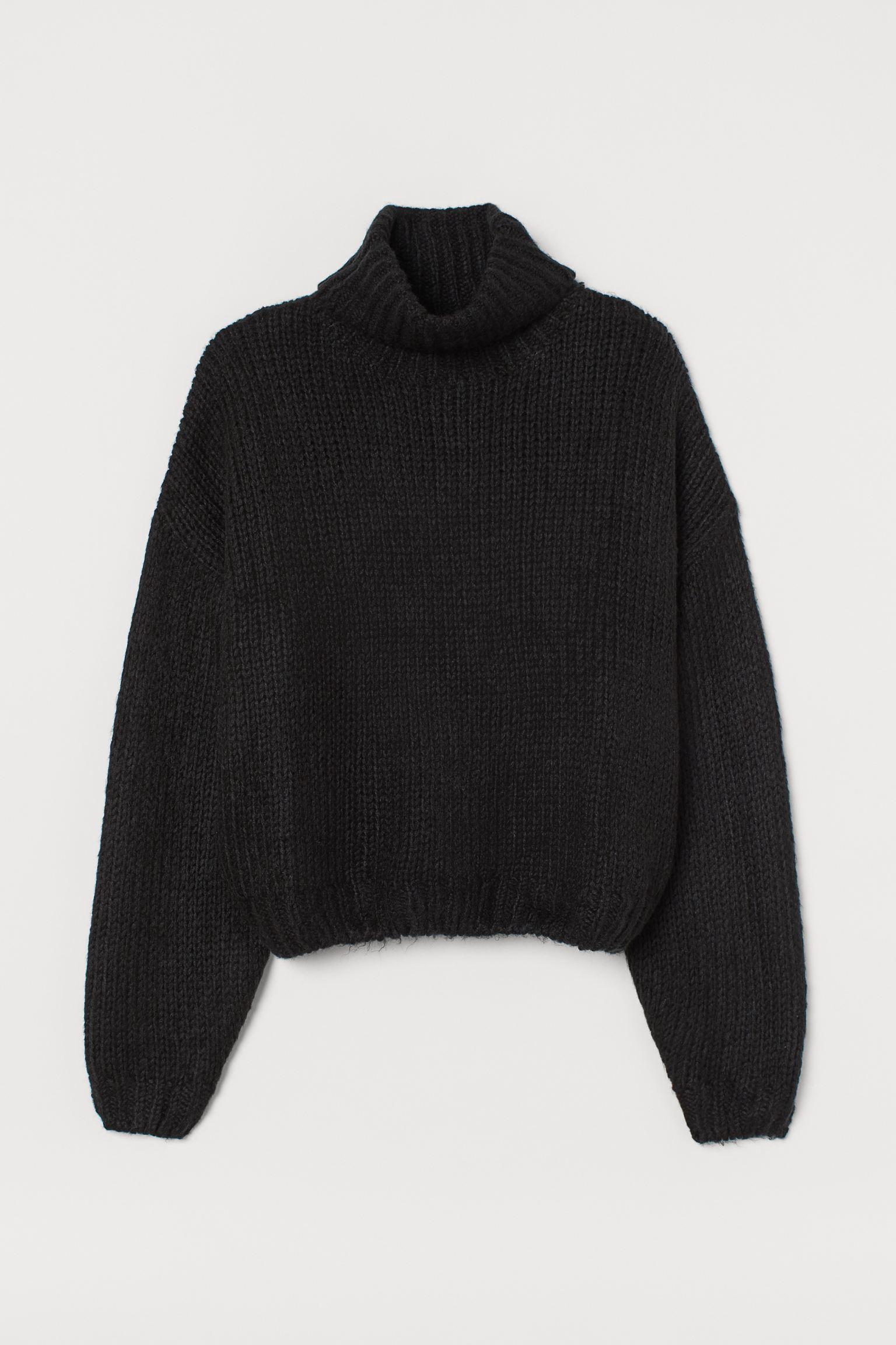 Jersey de cuello alto en punto