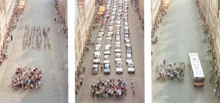 72 bicicletas, 72 coches y un autobús