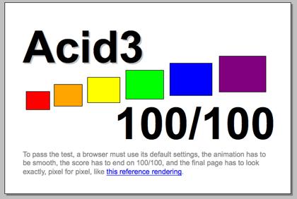 Acid3 Test, nuevos navegadores, nuevas pruebas