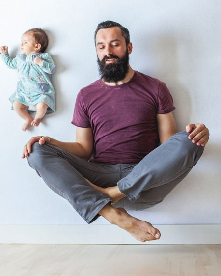 Dad Baby Girl Playful Photography Ania Waluda Michal Zawer 20