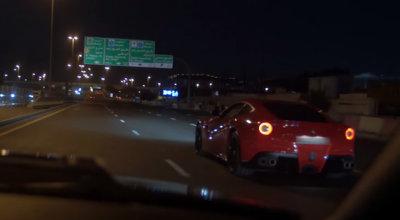 Cuando juegas a 'Too Fast Too Furious', puedes acabar contra un muro como este Ferrari F12