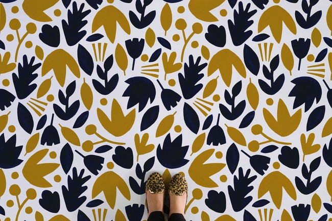 Web Navy Mustard Feet