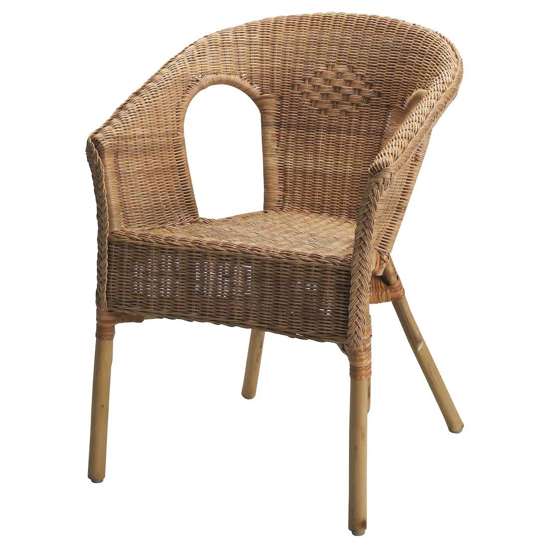 AGEN Silla, ratán, bambú