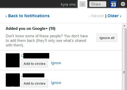 Google+ añade la opción de ignorar a otros usuarios