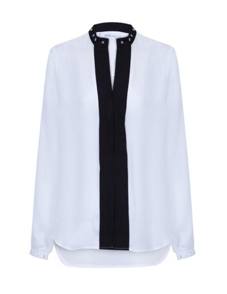 camisa blanco negro