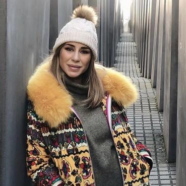 """""""Bebé en el horno"""", el desafortunado hashtag de Elena Tablada en el Memorial a los judíos de Berlín, en alusión a su embarazo"""