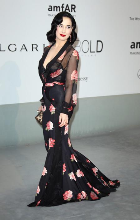 Dita von Teese amfar Cannes 2014