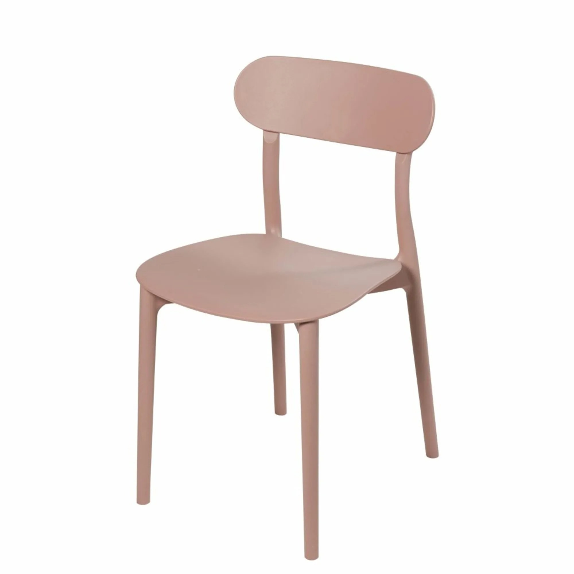 Silla color beige rosado