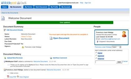 Middlepost, herramienta colaborativa para la gestión de los documentos