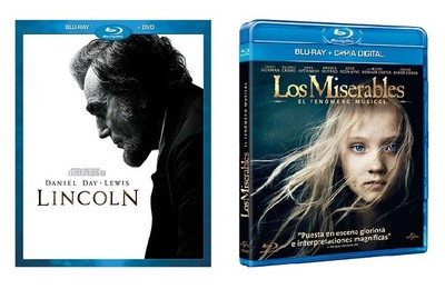 'Lincoln' y 'Los miserables' ya a la venta en dvd y blu-ray