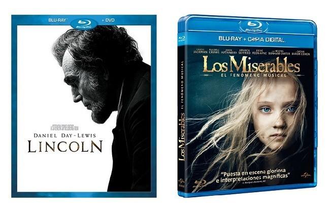 Carátulas de 'Lincoln' y 'Los miserables'