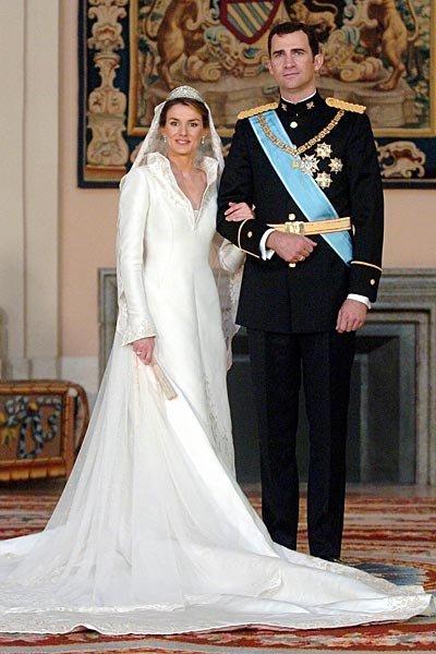 El vestido de novia de la Princesa Letizia