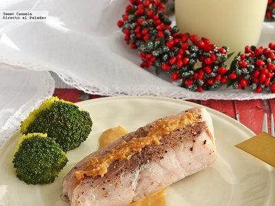 Róbalo con salsa de azafrán y turrón. Receta para lucirte en Navidad
