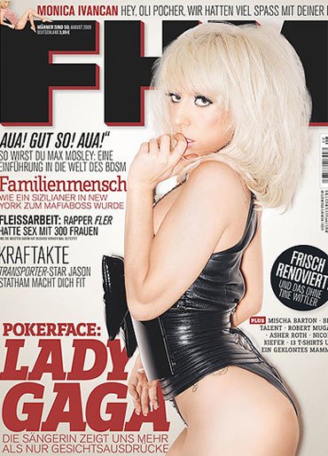 Lady Gaga portada de FHM Alemania