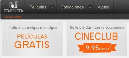 Cineclub, la tarifa plana española de cine a lo Netflix