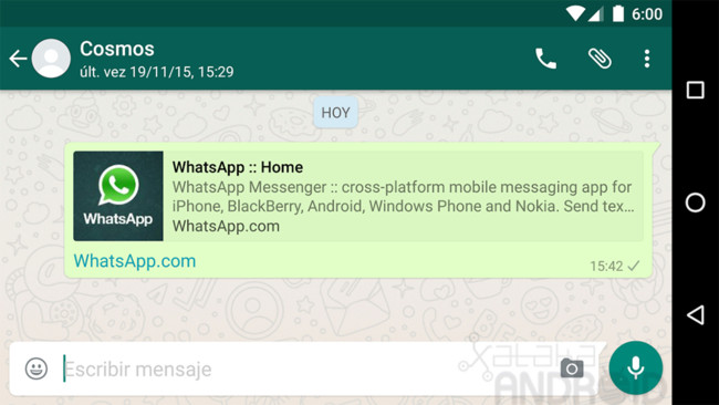 WhatsApp for Android adds a worldwide preview of links and