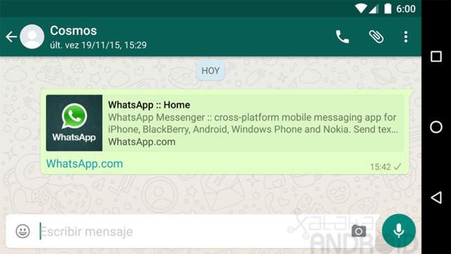 WhatsApp Vorschau