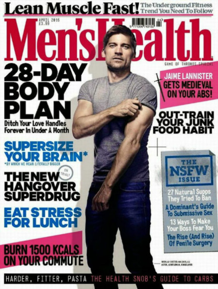 Mens Health Uk April 2015 Nikolaj Coster Waldau Cover