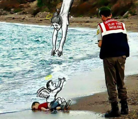 Syrian Boy Drowned Mediterranean Tragedy Artists Respond Aylan Kurdi 111 700