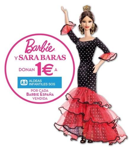 Mattel lanza una Barbie con inspiración en Sara Baras que colabora con Aldeas Infantiles