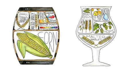 Drywell Art, bonitas ilustraciones que radriografían bebidas y comidas