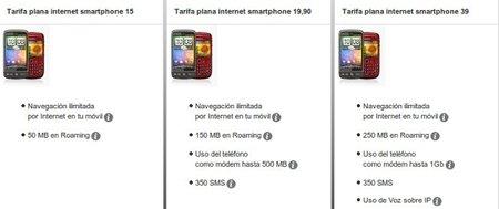 Nuevas tarifas de datos y roamming de Vodafone