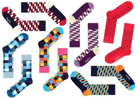 happy socks coleccion geometrica