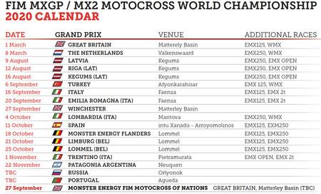 Calendario Mxgp Motocross 2020 Julio
