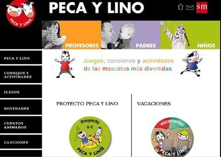 La web de Peca y Lino