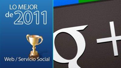 Mejor web o servicio social de 2011: Google+