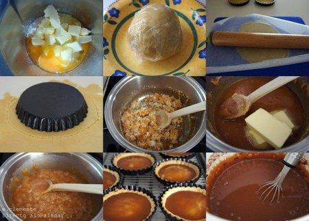 paso a paso tartaletas choco caramelo