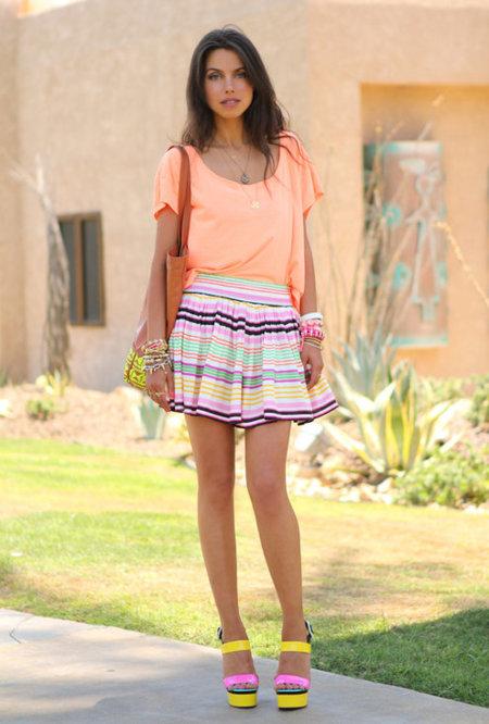 falda hm rayas