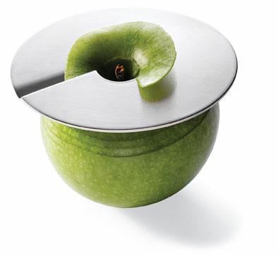 Pelador Apple Slicer, un disco de acero para pelar manzanas