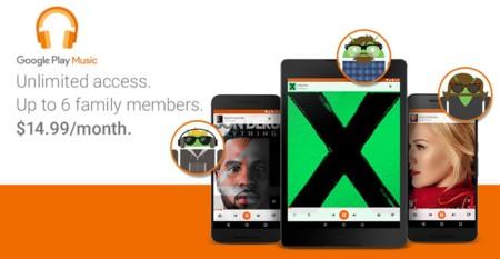 El plan familiar de Google Play Music llega a México, seis cuentas por 149 pesos