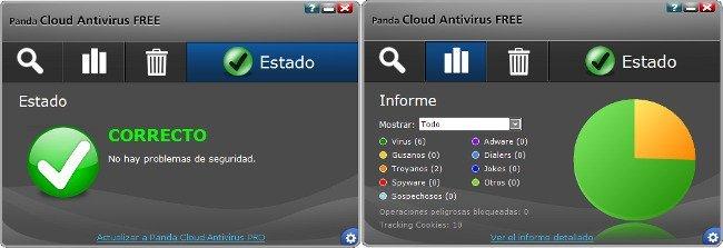 Antivirus gratuitos: Panda Cloud