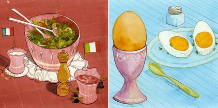 Ilustraciones culinarias de Felice Bruno