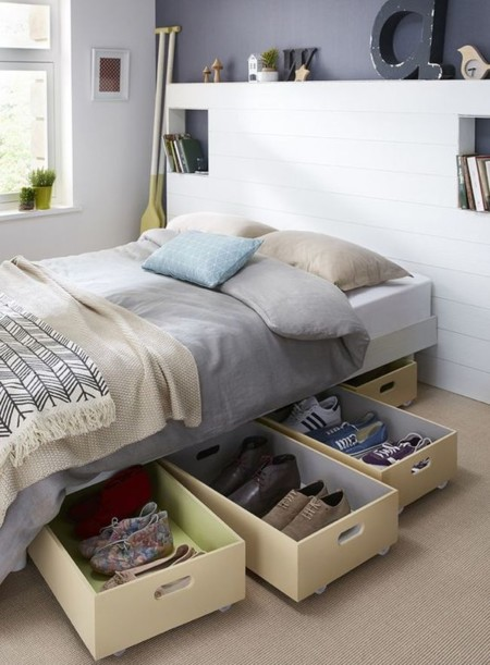 11 ideas para aprovechar el espacio sin perder estilo for Camas con cajones debajo