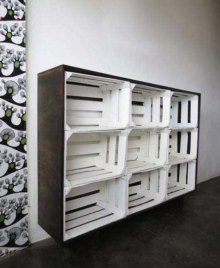 diy crate storage despues - Estanterias Con Cajas