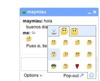 GMail chat con soporte de emoticonos y grupos de usuarios