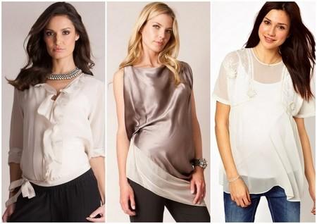 blusas y túnicas lisas premamá 2014