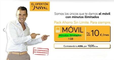 Jazztel mejora su oferta convergente con llamadas nacionales ilimitadas desde el móvil