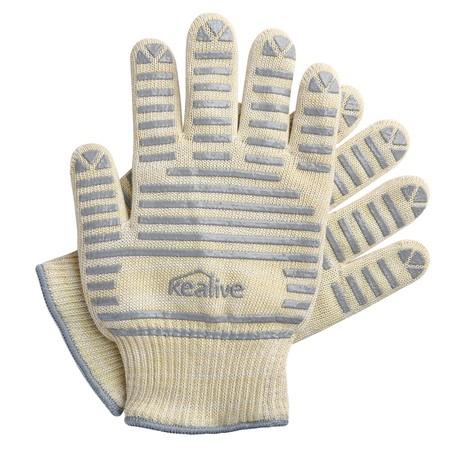 Cupón de descuento de 5 euros en el pack de guantes resistentes al calor Kealive: aplicándolo se quedan en 4,99 euros en Amazon