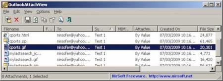 Accede directamente a tus adjuntos de Outlook con OutlookAttachView