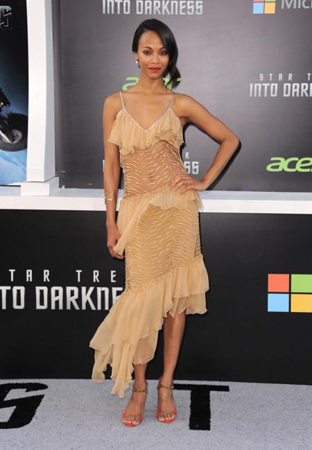 Rodarte Zoe Saldana look moda