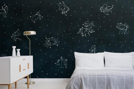 ¿Te gusta mirar las estrellas? Descubre esta colección de papeles pintados inspirado en los signos del zodiaco